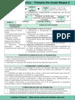 Plan 6to Grado - Bloque 4 Español (2016-2017).doc