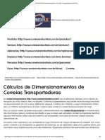 Cálculos de Dimensionamentos de Correias Transportadoras _ Bormax