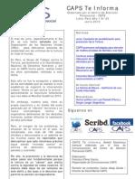 Caps Te Informa Boletín Mensual Junio 2010