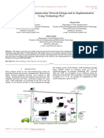 The Enterprise Telecommunication Network Design and its Implementation Using Technology PLC
