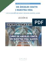Curso de Angeles Gratis Leccion 42 en Nuestra Vida Centro Atenea Espiritual
