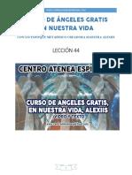 Curso de Angeles Gratis Lección 44 en Nuestra Vida Centro Atenea Espiritual.