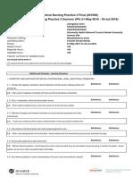 nurs 151 final evaluation