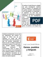 Genes, Pueblos y Lenguas. Luigi Luca Cavalli-Sforza