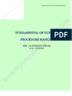 fundamental of nursing procedure mannual