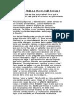 Filosofía Para La Psicología Social i