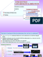 Chapter 9i Introduction Deformation Mechanical Behaviour