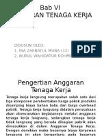anggaran tenaga kerja