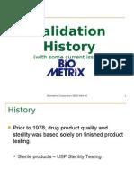 History of Validation