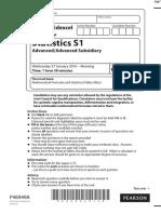 January 2016 (IAL) QP - S1 Edexcel