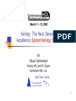 2002 HDLCon Presentation SystemVerilog