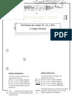 Science School - La Nota Sol, Ejercicios Si, La, Sol.