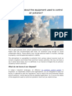 Do You Know About the Equipment Used to Control Air Pollution