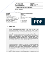 Carta Descriptiva Penal Especial i