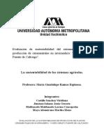 """""""Evaluacion de La Sustentabilidad de Produccion de Plantas Ornamentales en Invernadero """"Vivero Grupo Puente de Caltongo"""""""