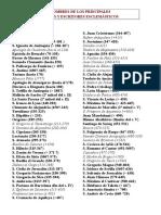 Nombres de Los Principales Padres de La Iglesia
