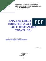 Analiza Circulatiei Turistice a Agentiei de Turism Adria Travel SRL.doc
