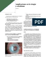 Cap 03-10 Complicaciones en La Cirugia de Estrabismo