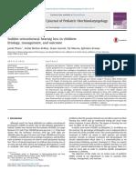 International Journal of Pediatric Otorhinolaryngology Volume 82 Issue 2016 [Doi 10.1016%2Fj.ijporl.2015.12.022] Pitaro, Jacob; Bechor-Fellner, Avital; Gavriel, Haim; Marom, Tal -- Sudden Sensorineura