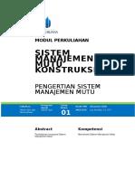 Modul Sistem Manajemen Mutu Konstruksi [TM1]