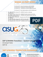 11-2-16_Transition to SAP S4HANA - System Conversion