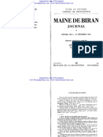 Maine de Biran, Journal