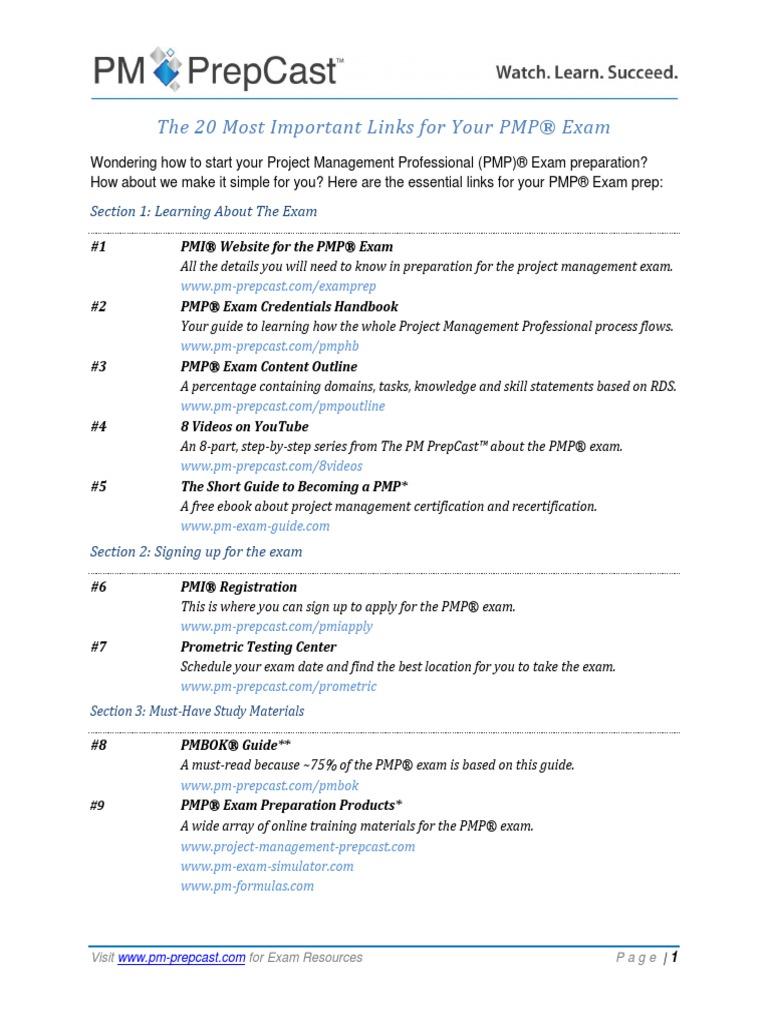 Pmpexamlinkspdf Test Assessment Project Management