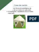 Proyecto Casa de Cartón
