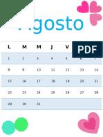 Agenda de Agosto