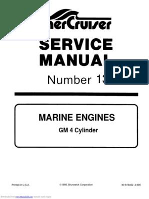 MerCruiser GM4 Manual de Servicio | Propeller | Internal ... on