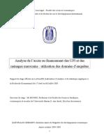 Le Financement Du Secteur Informel Et Des Menages Au MAroc
