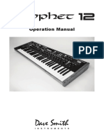 Prophet 12 Operation Manual 1.1