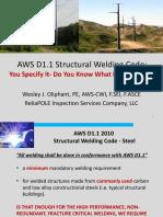 Thursday 9 15 AM Welding Panel-AWS D1.1 Structural Welding Code-Wes Oliphant.pdf