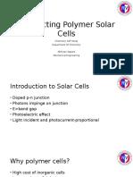 Conducting Polymer Solar Cells