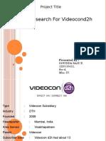 Videocon Video Con d2h Ppt
