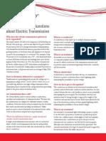 Fa q Electric Transmission