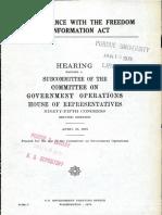 FBI Compliance With FOIA