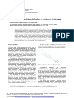 Evaluation of Human-Induced Vibration of Continuous Footbridges