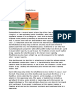 Narrative Report of Badminton