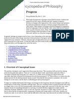 Progress (Stanford Encyclopedia of Philosophy)