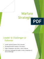 Warfare Strategies in Marketing
