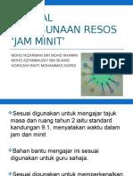 Manual Penggunaan Resos 'Jam Minit'
