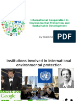 International Cooperation in Environmental Protection and Sustainable Development