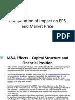 Computation of Impact on EPS and Market Price3.3