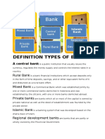 Definition Types of Banks