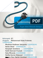 Tugas Epidemiologi Deskriptif Kelompok B7