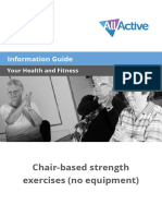 Chair Based Strength Exercises No Equipment AllActive Information Guide