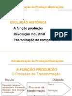 Administração Da Produção - Operação