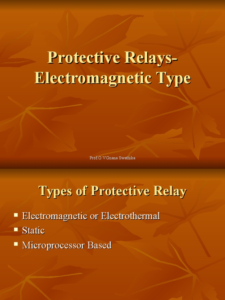 6Classification of relaysppt Relay Electromagnetic Induction