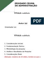 Modelo de Apresentação Tcc - Slides